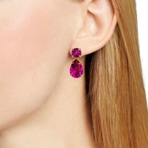 Kate Spade Rose Fancy That Double Drop Earrings